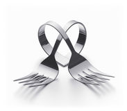 Cutlery  heart Stock Photography