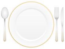 Cutlery i talerz Obrazy Royalty Free