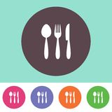 Cutlery icon Royalty Free Stock Photos