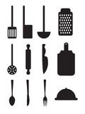 Cutlery icons Royalty Free Stock Image