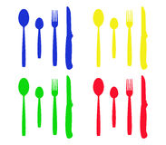 Cutlery illustrated Stock Image