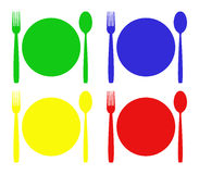 Cutlery illustrated Royalty Free Stock Images