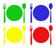 Cutlery ilustrujący Obrazy Royalty Free