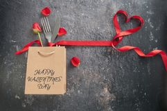 Valentines day meal background royalty free stock photos