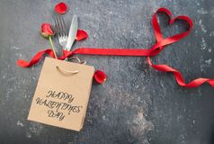 Valentines day meal background stock images
