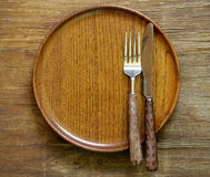 Cutlery (knife and fork) Stock Photos