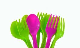 Cutlery kolorowy. fotografia stock