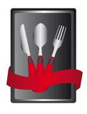 Cutlery label Royalty Free Stock Images