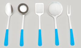 Cutlery on a light gray Stock Image