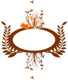 Cutlery logo with leaves decoration isolated Stock Photos