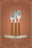 Cutlery menu Royalty Free Stock Images