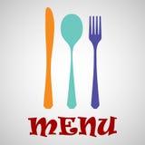 Cutlery menu Royalty Free Stock Photo