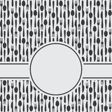 Cutlery menu tło ilustracja wektor