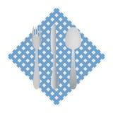Cutlery on a napkin Stock Photos