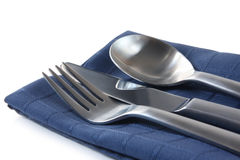 Cutlery on Napkin Stock Image