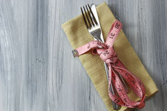 Cutlery on napkin Royalty Free Stock Photography