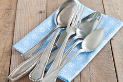 Cutlery with napkin Stock Photography