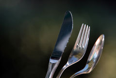 Cutlery on outdoor Royalty Free Stock Photography