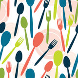 Cutlery pattern Stock Image