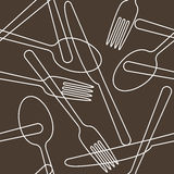 Cutlery pattern Royalty Free Stock Images