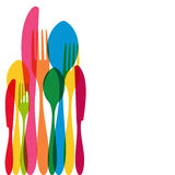 Cutlery pattern illustration Royalty Free Stock Image