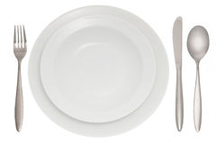 Cutlery with plate Royalty Free Stock Photography