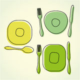 Cutlery and plate Royalty Free Stock Image