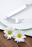 Cutlery on plate Stock Image