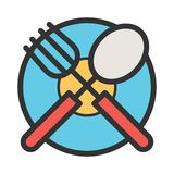 Cutlery and Plate stock illustration