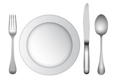 Cutlery and plate Royalty Free Stock Photo