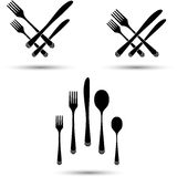 Cutlery position Royalty Free Stock Photo