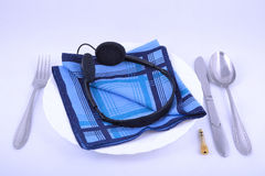 Cutlery przy stołem Fotografia Royalty Free
