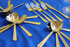 Cutlery ready for the event Stock Images