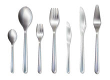 Cutlery Reception Dinner Set Realistic Image Stock Images