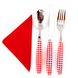 Cutlery in red Royalty Free Stock Images