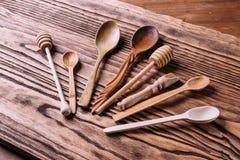 Cutlery robić drewno dla pikantność i kucharstwa Zdjęcie Royalty Free