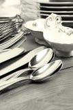 cutlery rozdaje set zdjęcia stock