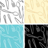 Cutlery seamless pattern Stock Images