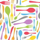 Cutlery Seamless Pattern Royalty Free Stock Photos