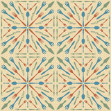 Cutlery seamless pattern beige color Stock Photos