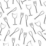 Cutlery seamless pattern Stock Photography