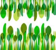 Cutlery seamless pattern illustration Stock Photos