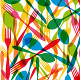 Cutlery seamless pattern illustration Stock Photos