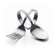 Cutlery serce Obraz Stock