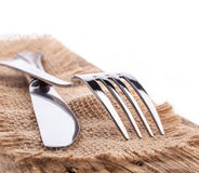Cutlery served Royalty Free Stock Photo