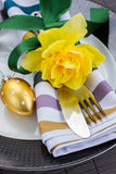 Cutlery serving for easter Royalty Free Stock Image
