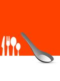 Cutlery set. On abstract background Royalty Free Stock Photo