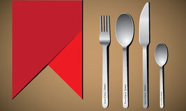Cutlery set with fork, knife and spoon Royalty Free Stock Photos