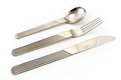 Cutlery set with Fork, Knife and Spoon Stock Photography