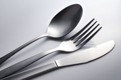 Cutlery set with Fork, Knife and Spoon Royalty Free Stock Image